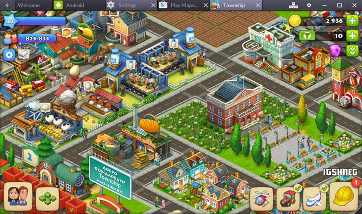 Игровой процесс в Township