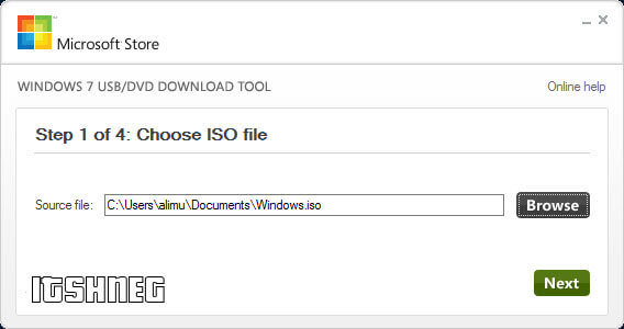 USB/DVD Download Tool - Шаг 1