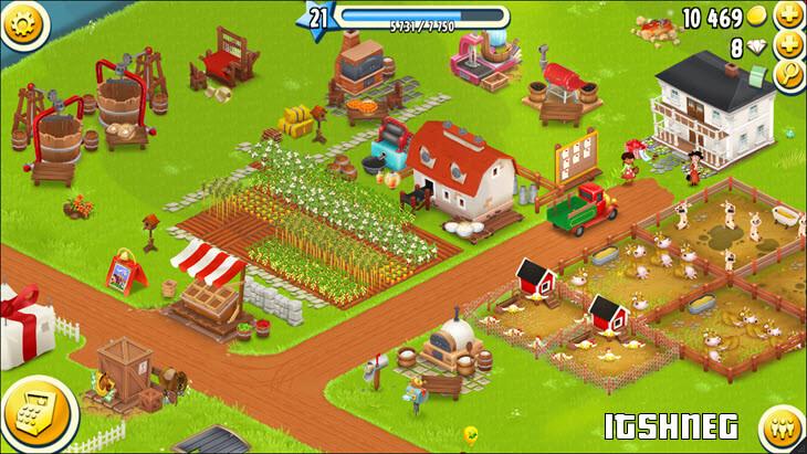 Геймплей игры Hay Day