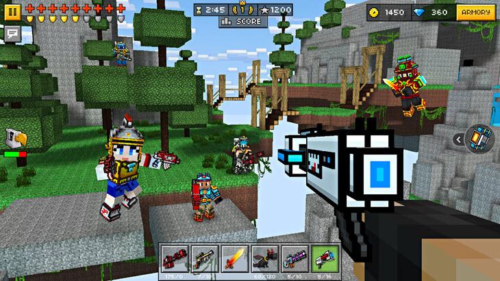 Pixel Gun 3D на компьютере - скриншот