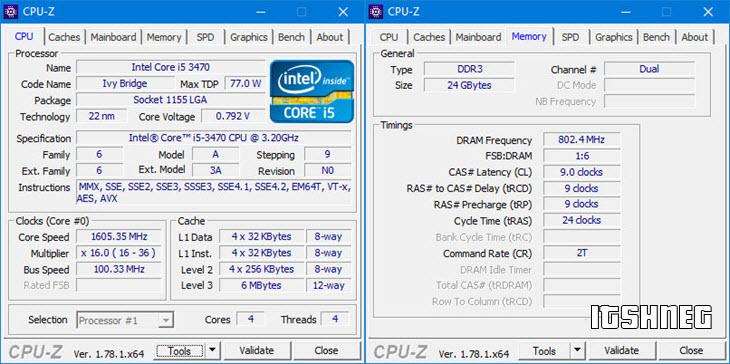 CPU-Z. Процессор и оперативная память