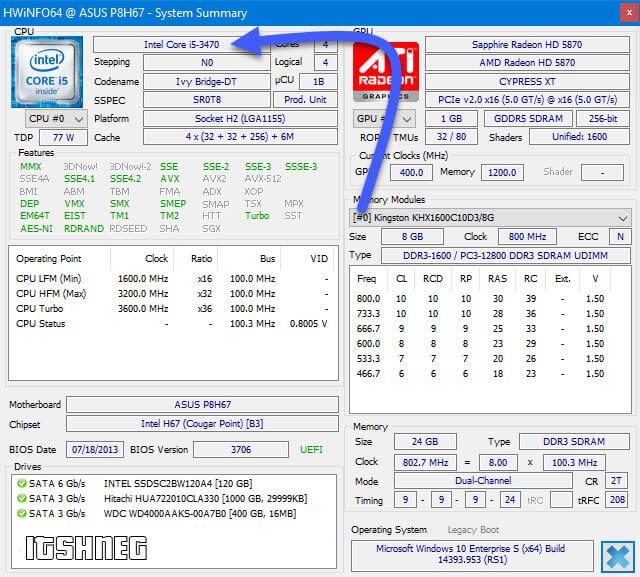 HWiNFO и информация о CPU