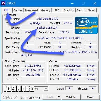 CPU-Z строка Package