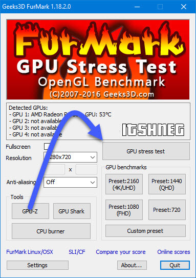 Furmark - GPU stress test