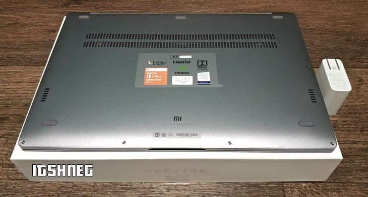 Дно ноутбука Mi Notebook Pro