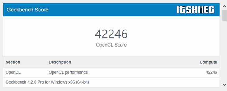 GeekBench - результаты MX150