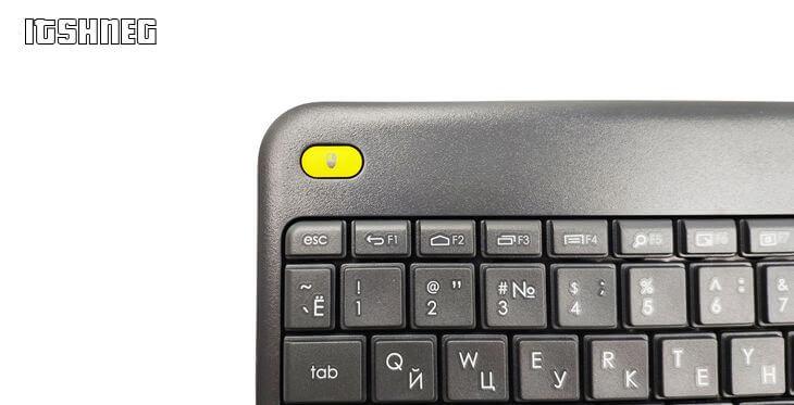 """Logitech k400plus - кнопка """"двойной клик"""""""