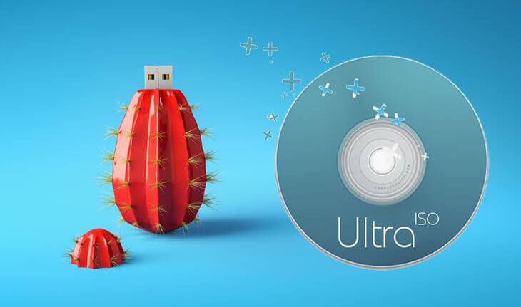 Запись образа на флешку через UltraISO